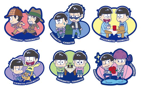 Rubber Mascot Buddy Colle - Osomatsu-san Onaji Kao demo, Mainichi Omoshiroi yona! Hen 6Pack BOX(Pre-order)