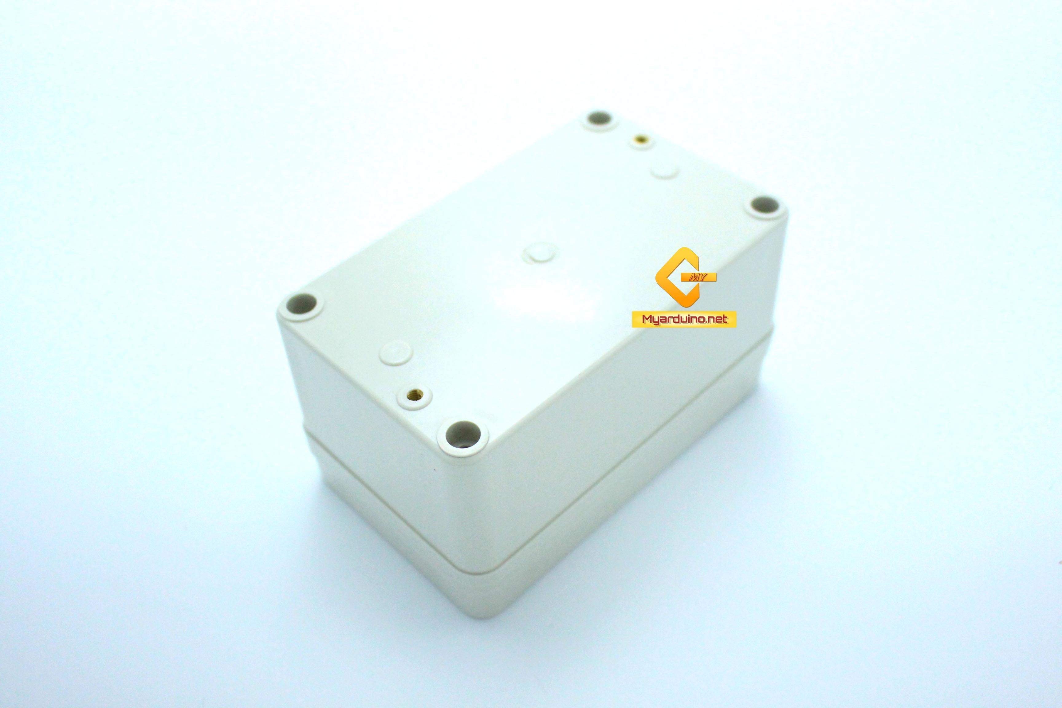 กล่องอิเล็กทรอนิกส์ อเนกประสงค์ กันน้ำ สีเทา 130*80*70mm