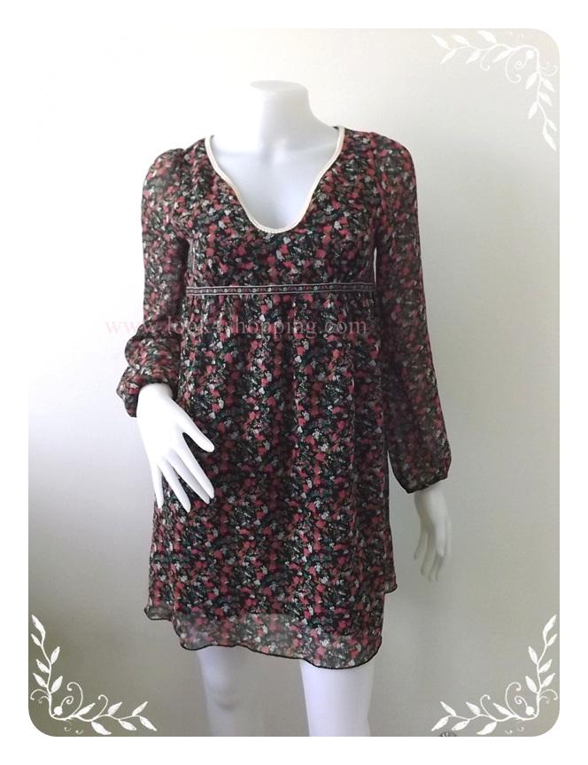 """Dress0509--เดรสแฟชั่น ชีฟอง สวยๆ """"อก 33 นิ้ว"""""""