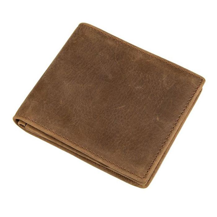 GT-8056 B กระเป๋าสตางค์ผู้ชาย ใบสั้น หนังนูบัค