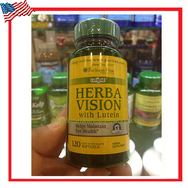 Herbavision with Lutein and Bilberry/120 Softgels (Puritan's Pride)