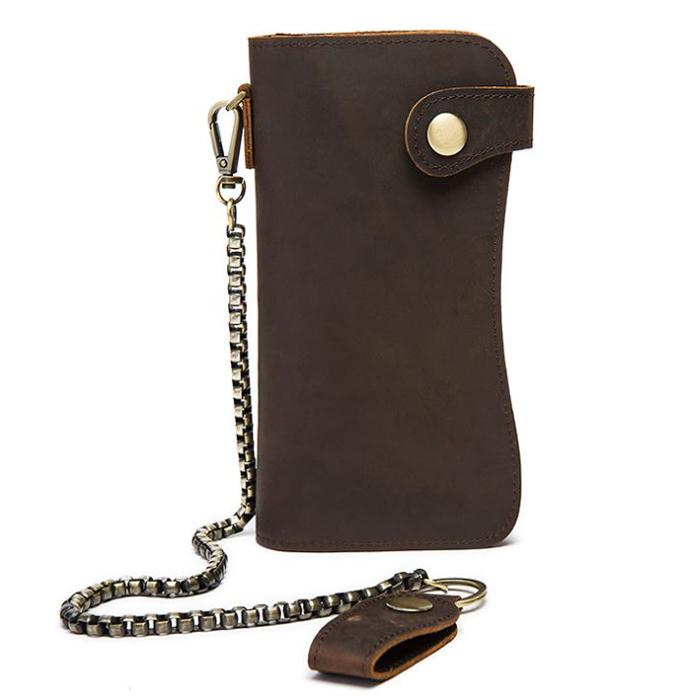 GT-8810 กระเป๋าสตางค์ผู้ชาย ใบยาว หนังนูบัค ดีไซน์โค้ง