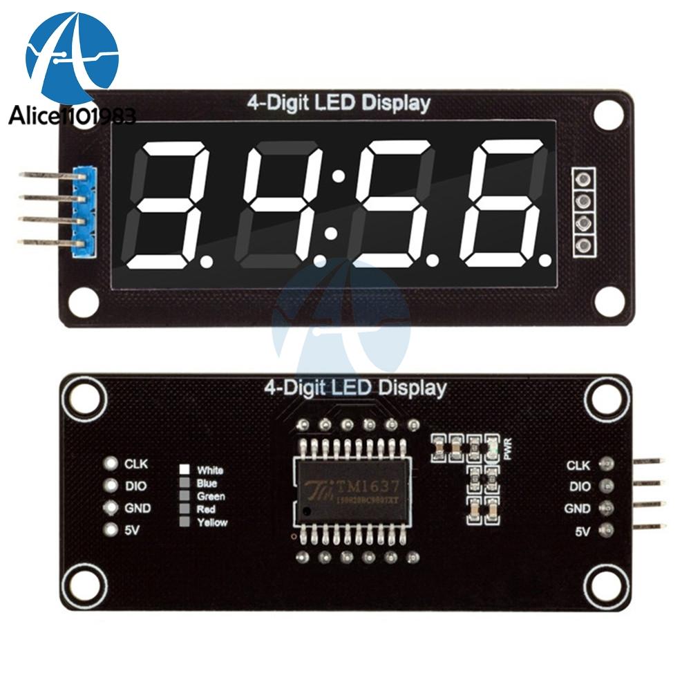 """โมดูลแสดงค่าตัวเลข 4 หลัก จุดนาฬิกา 0.56"""" TM1637 Driver สีขาว"""