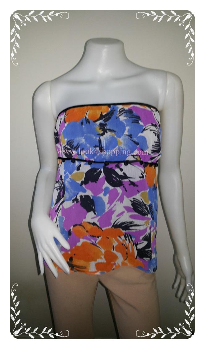 BN2810-เสื้อผ้าเกาะอก the limited .อก26-32 นิ้ว