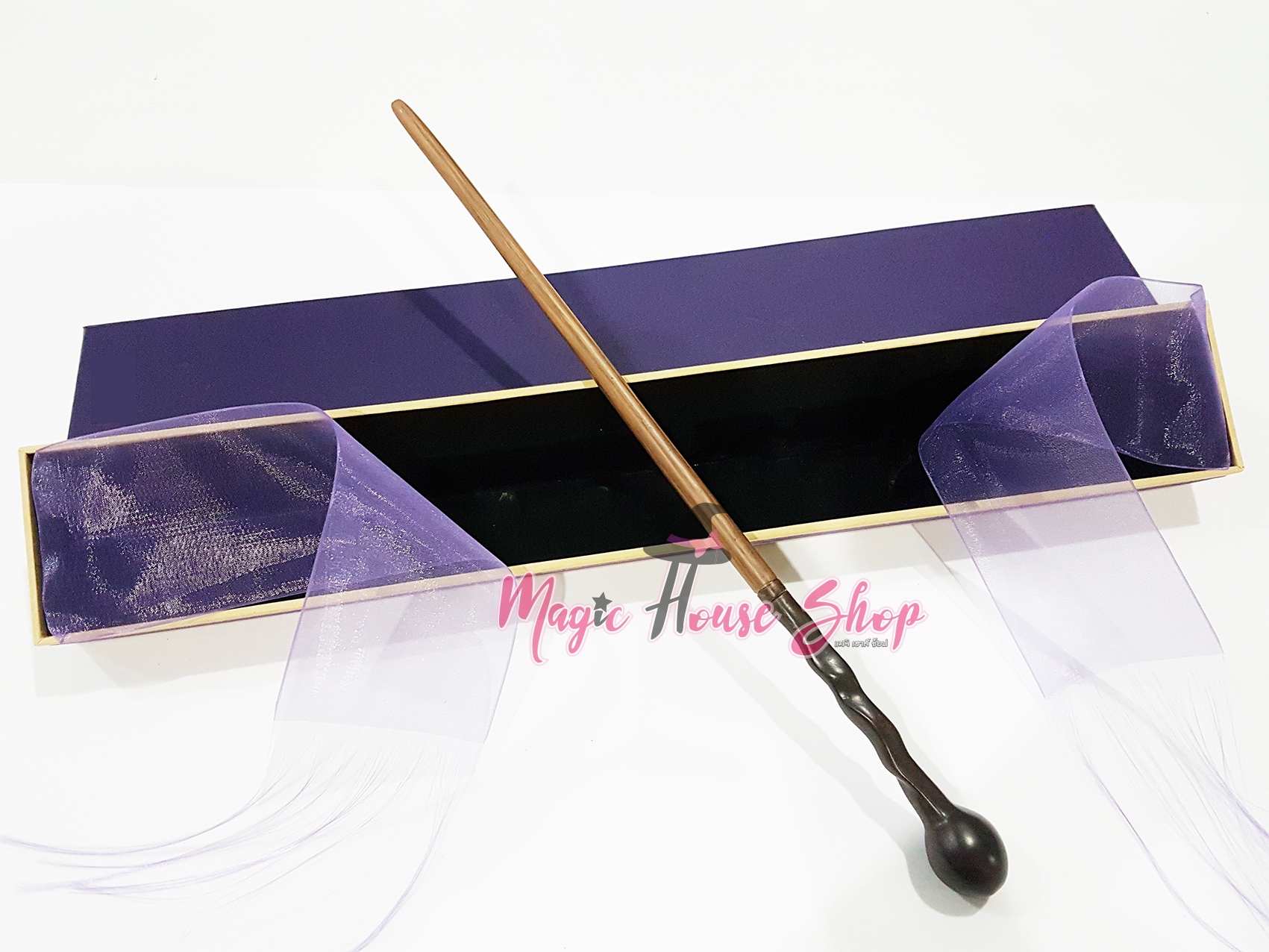 ไม้กายสิทธิ์ ศาสตราจารย์ รีมัส ลูปิน เลียนแบบกล่องโอลลิแวนเดอร์ เกรดพรีเมี่ยม