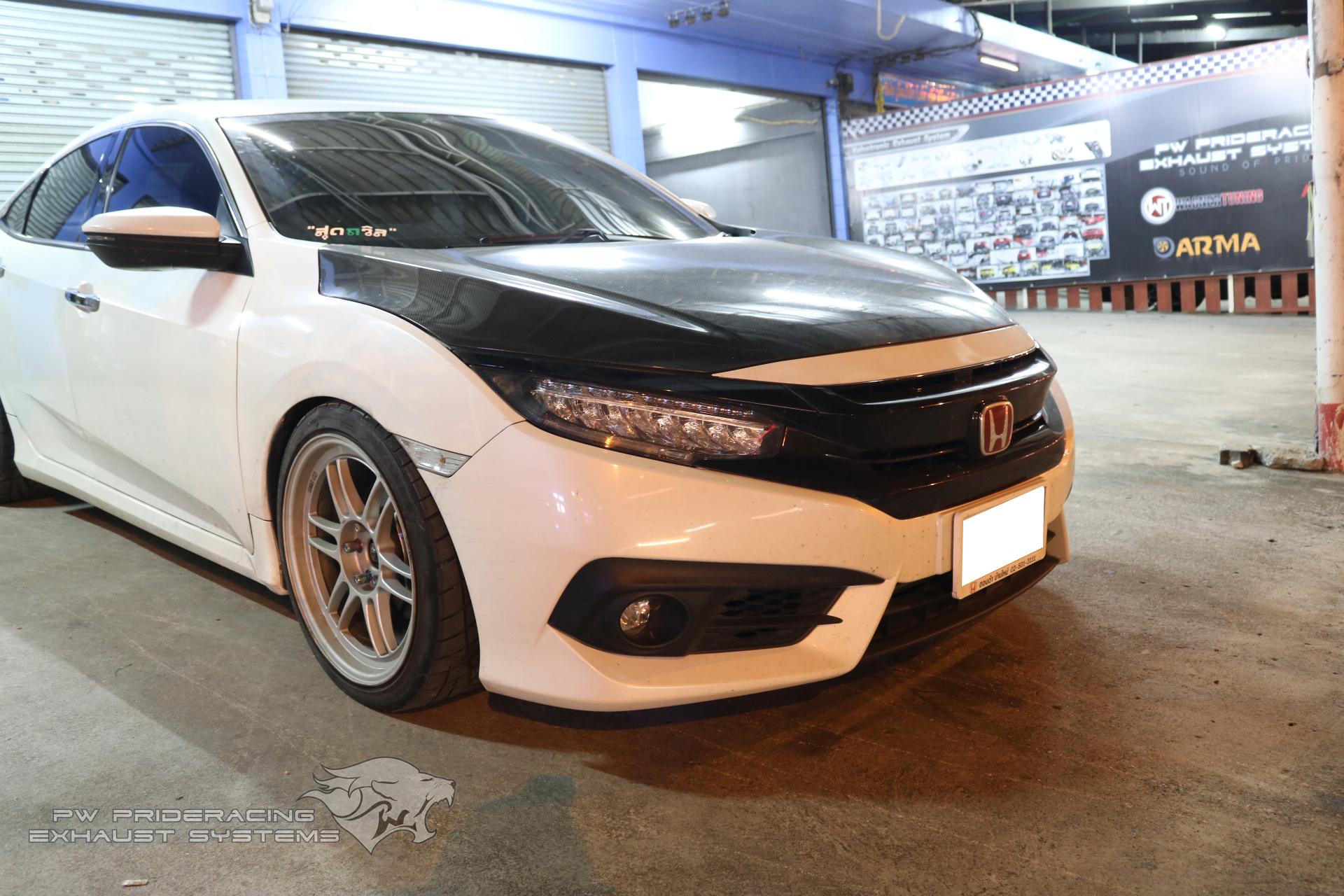 ชุดท่อไอเสีย Honda Civic FC RS by PW PrideRacing