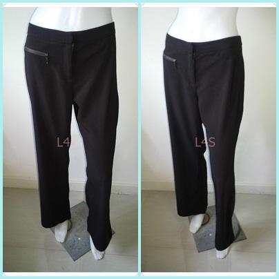 BNB1417--กางเกงผ้า สีน้ำตาล แบรนด์เนม 5 UP เอว 30 นิ้ว