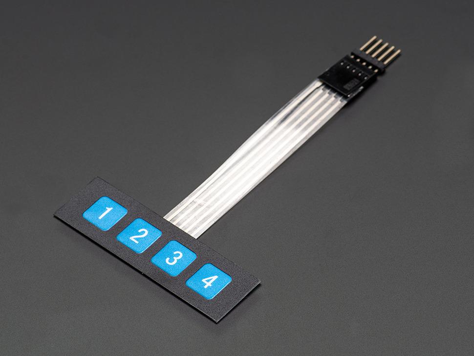 Membrane Keypad Matrix Switch 1x4