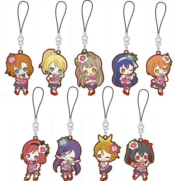 Love Live! - Rubber Strap Happy maker! ver. 9Pack BOX(Pre-order)