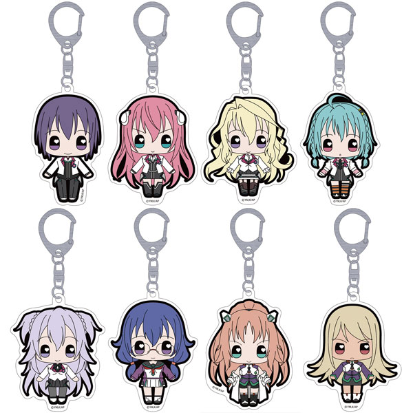 Gakusen Toshi Asterisk - Moekko Trading Acrylic Keychain 8Pack BOX(Pre-order)