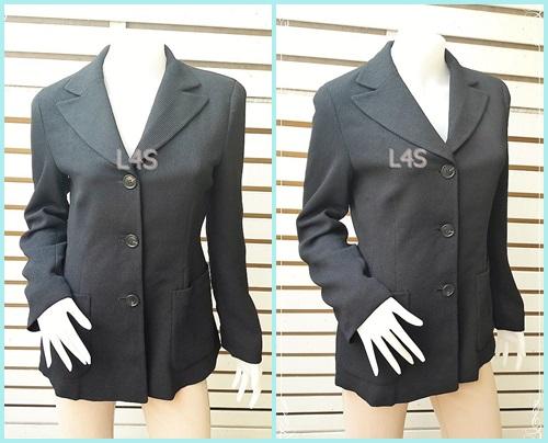 เสื้อสูท สีดำ แบรนด์ marie claire paris อก 35 นิ้ว
