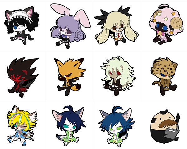 SHOW BY ROCK!! - Petanko Trading Rubber Strap 12Pack BOX(Pre-order)