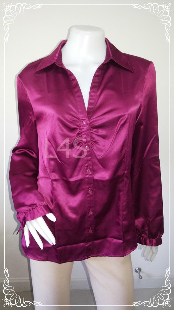 """BN3564--เสื้อแฟชั่น นำเข้า สีชมพูบานเย็นเข้ม WORTHINGTON """"อก 40 นิ้ว"""""""