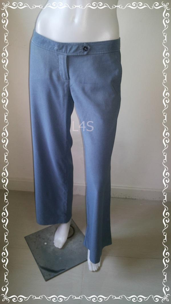 BNB1243- กางเกงผ้า สีฟ้าหม่น แบรนด์เนม jaspal เอว 31 นิ้ว