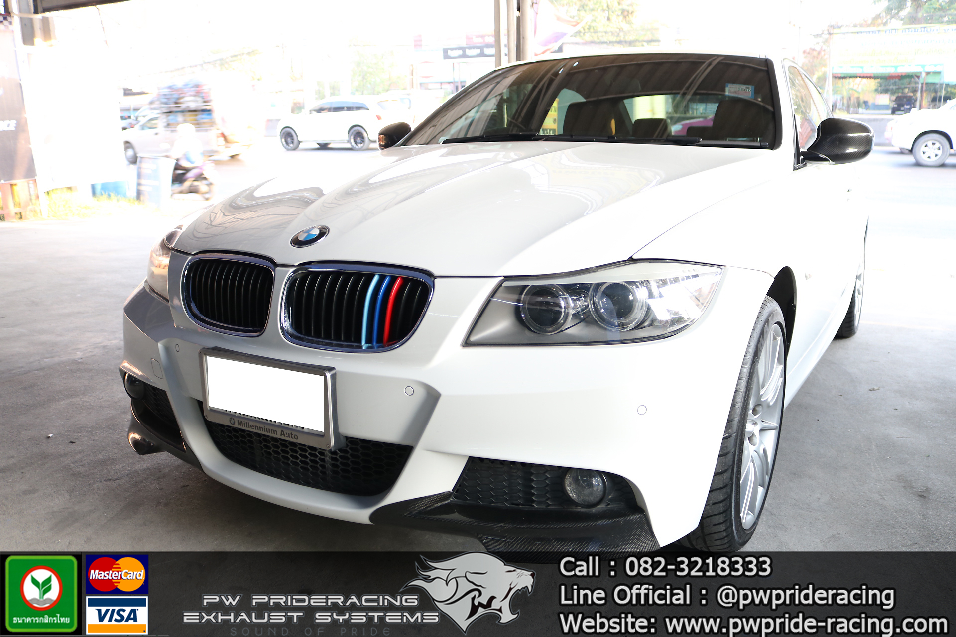 ชุดท่อไอเสีย BMW E90 320D by PW PrideRacing