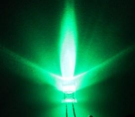 LEDหลอดใส สีเขียว ขนาด5mm จำนวน5ดวง