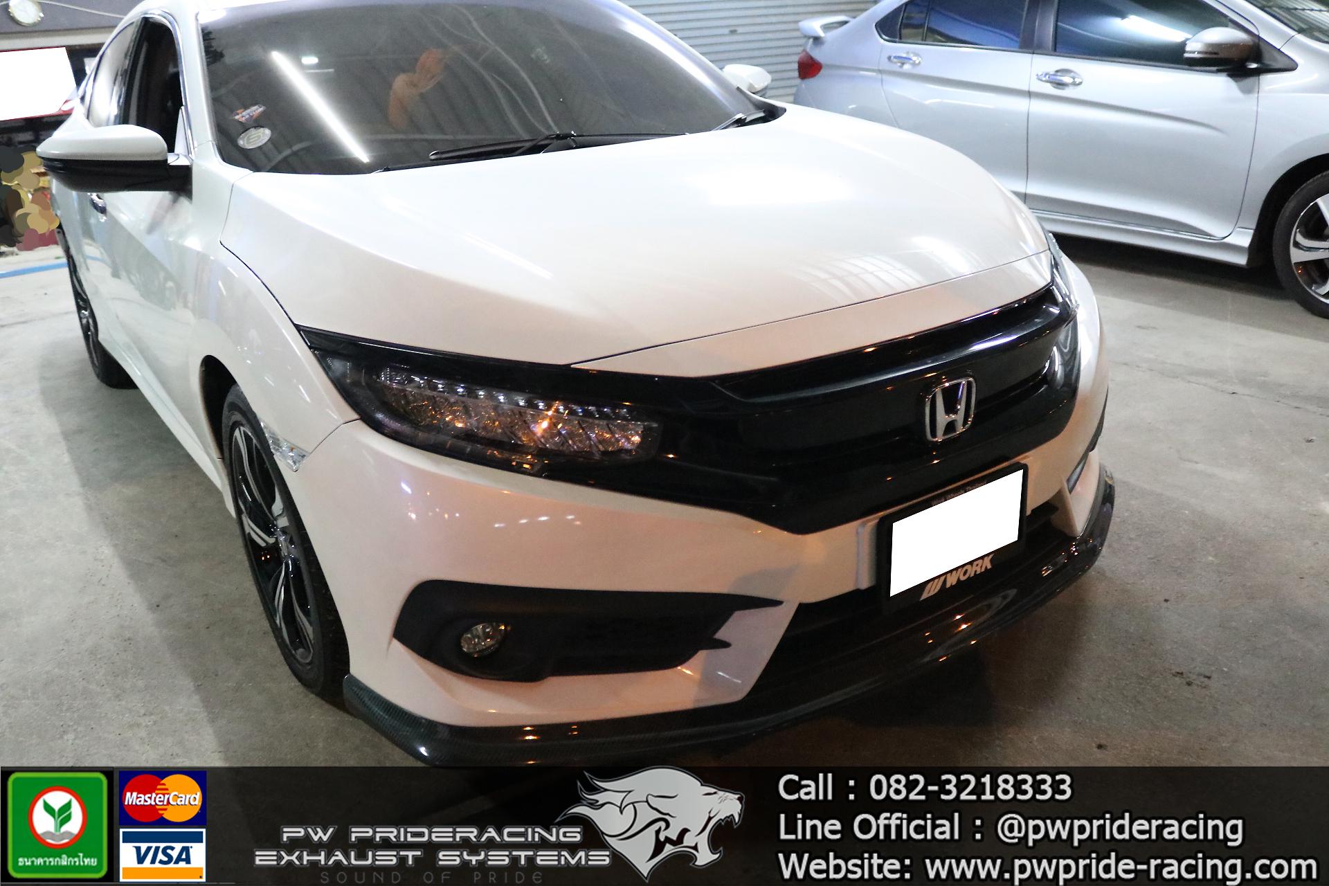 ชุดท่อไอเสีย Honda Civic FC 1.5 Turbo (Full System With Valvetronic) by PW PrideRacing