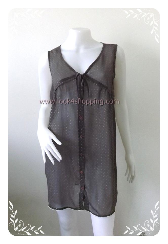 """Dress0428--เดรสแฟชั่น ชีฟอง สวยๆ """"อก 38 นิ้ว"""""""