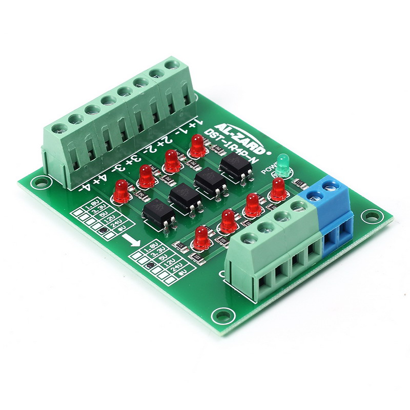 โมดูลแปลงสัญญาณควบคุม 24V to 5V 4Bit Signal Level Voltage Converter Board