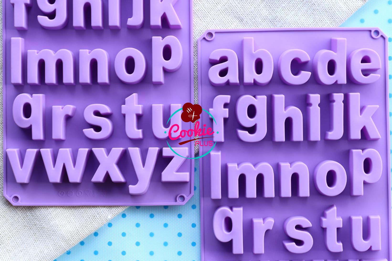 แม่พิมพ์ซิลิโคน พิมพ์วุ้นแฟนซี a-z ตัวพิมพ์เล็ก