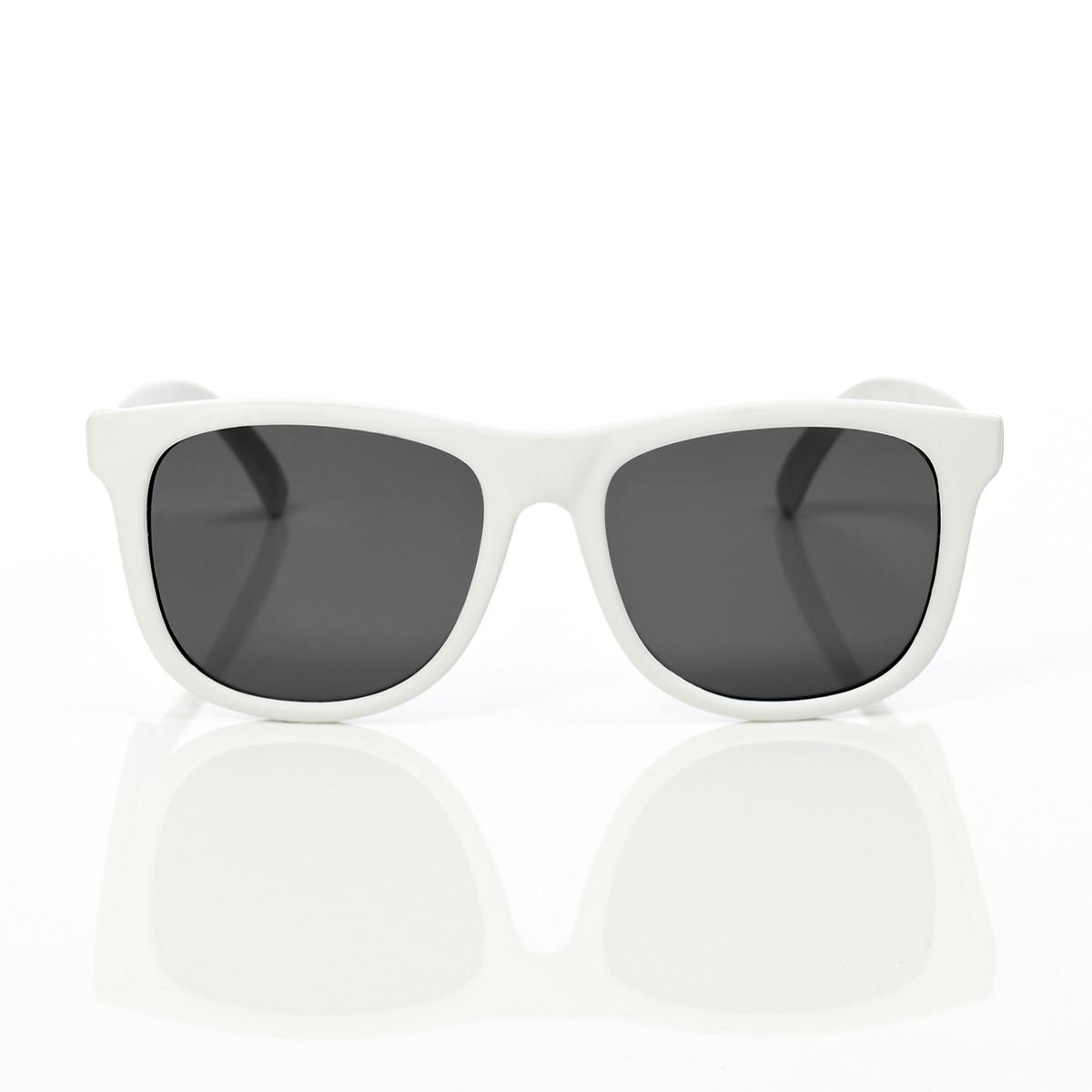 Mustachifier White Sunglasses Age 3-6 แว่นกันแดดเด็กสีขาว