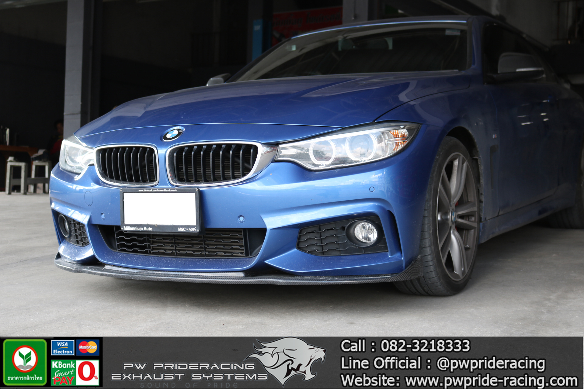 BMW 420i F32 Cat-back Exhaust by PW PrideRacing