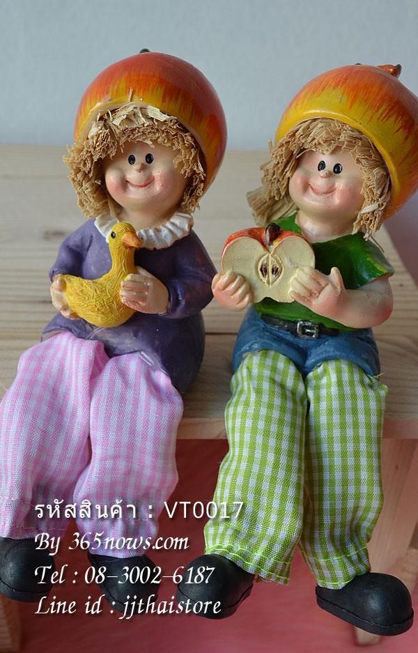 ตุ๊กตาห้อยขา หัวแอปเปิ้ล (ไซส์เล็ก) รหัส VT0017 ทำจากเรซิ่น