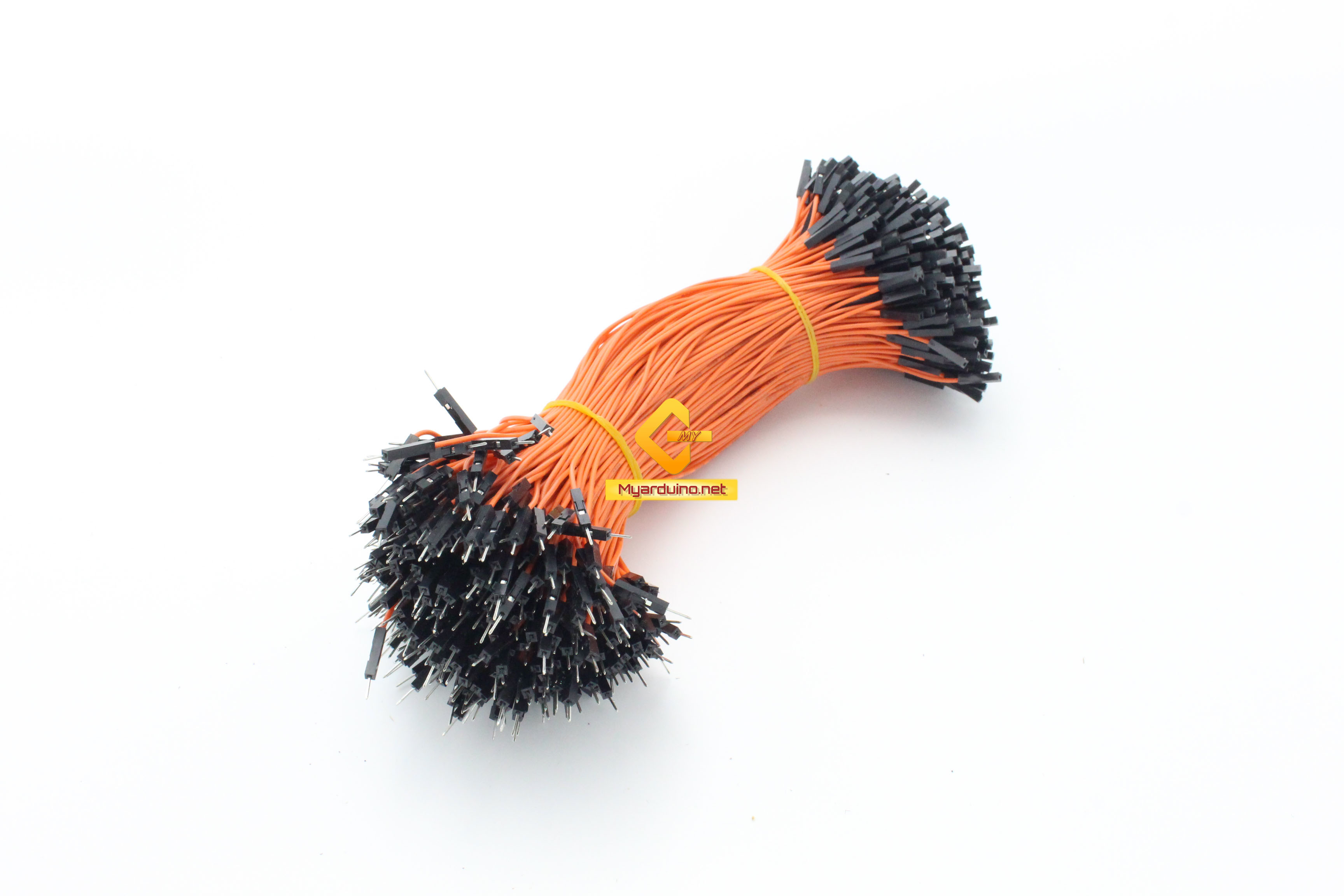 สายไฟจัมเปอร์ 20cm ผู้-เมีย สีส้ม จำนวน 10 เส้น
