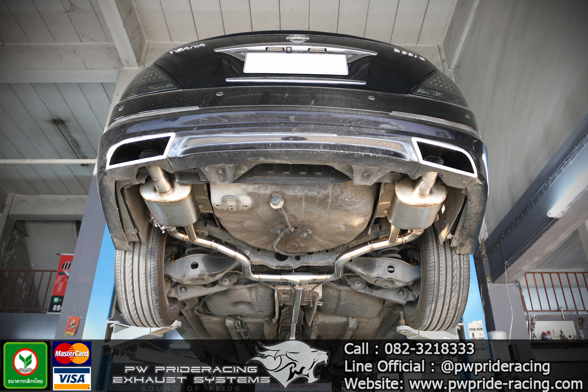 ชุดท่อไอเสีย Nissan Teana Valvetronic Exhaust System by PW PrideRacing