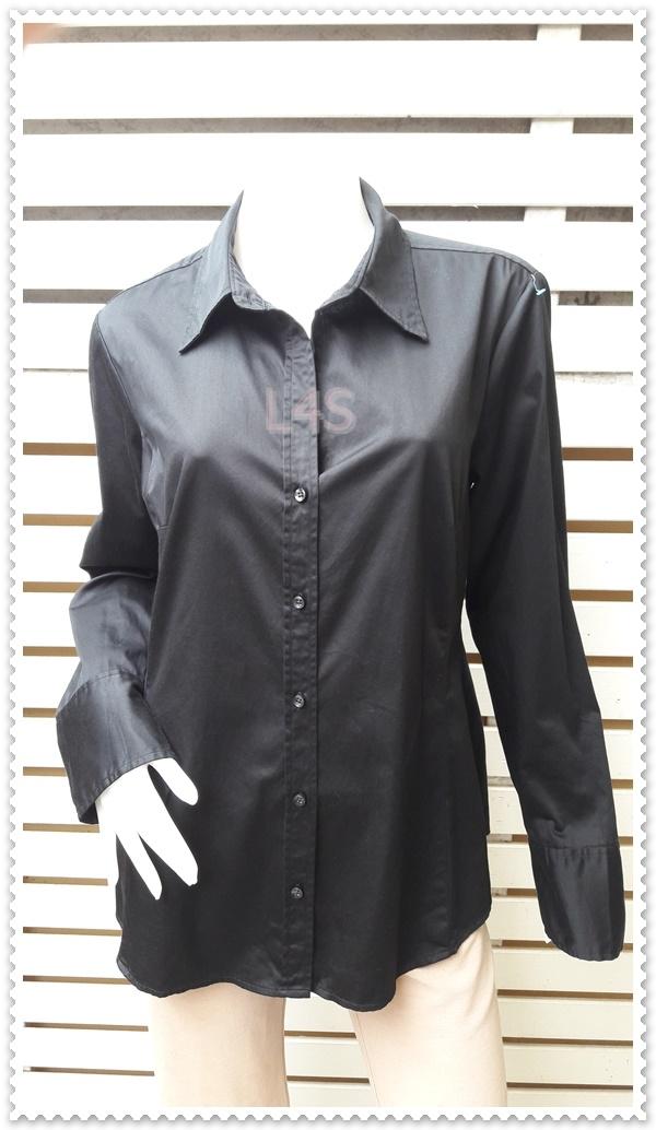 เสื้อเชิ้ต นำเข้า สีดำ MERONA อก 42 นิ้ว