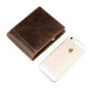 GT-8054 กระเป๋าสตางค์ผู้ชาย หนังแท้ สีน้ำตาล