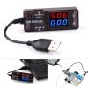 เครื่องวัดไฟฟ้า Digital LED USB Charger Doctor Voltage Current Meter Tester Power Detector KW203