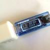 เครื่องวัดไฟฟ้า USB Tester KEWEISI-V20 Mini USB Portable LCD Digital Voltage and Current Tester
