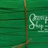 เชือกถักแบนเอนกประสงค์ เส้นเล็ก สีเขียว (1เมตร)