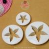 ชุดพิมพ์กดคุกกี้ / ฟองดอง ดอกไม้ 5 กลีบ 3 ขนาด