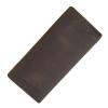 GT-8030 R กระเป๋าสตางค์ผู้ชาย ใบยาว หนังนูบัค สีน้ำตาลเข้ม