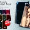 เคสแปะหลัง iPhone 4/4s pvc สี Matalic สีทองเงา