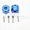 ALUMINIUM WHEEL HEX ADAPTERS 12MM X 11MM - 2PCS SET
