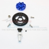 ALUMINIUM GEAR ADAPTER WITH STEEL 32 PITCH 54T SPUR GEAR & 15T MOTOR GEAR - 1SET (FOR SLASH 4X4 LOW-CG 68086-21 VERSION)