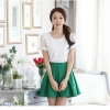 [พร้อมส่ง]เสื้อสตรีสีขาวเนื้อดี ช่วงตัวและแขนเป็นผ้าลูกไม้สวยหวาน ตัดเย็บเรียบร้อยใส่ได้หลายโอกาสค่ะรหัส MN26