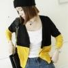 เสื้อคลุมทูโทน สีเหลืองสลับดำ ผ่าหน้าติดกระดุม