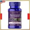 Resveratrol 100 mg & Pycnogenol® 30 mg/30 Softgels (Puritan's Pride) รักษาฝ้า กระ บำรุงผิว