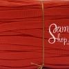 เชือกถักแบนเอนกประสงค์ เส้นเล็ก สีแดง (1เมตร)