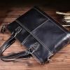 DM-1026 กระเป๋าเอกสาร หนังแท้ สีน้ำตาลดำ