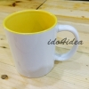 แก้วขาว หูขาว ข้างในมีสี Two Tone สีเหลือง