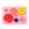 พิมพ์ฟองดอง พิมพ์วุ้น 3D ลายดอกกุหลาบ 7 ดอก