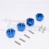 ALUMINIUM HEX ADAPTORS (12MM) - 4PCS SET (FOR WRAITH, SMT10 MONSTER JAM AX90055)