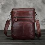 DM-8269 กระเป๋าสะพายข้างผู้ชาย หนังแท้ สีน้ำตาลแดง