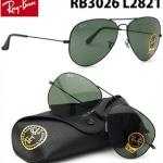 แว่นกันแดด RayBan Aviator RB3026 L2821 กรอบดำ เลนส์ดำ G15 size 62 mm สำหรับคนหน้าใหญ่