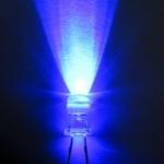 LEDหลอดใส สีน้ำเงิน ขนาด5mm จำนวน5ดวง